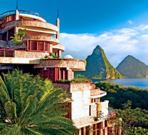 Jade Mountain St.Lucia is designed and built by Russian-Canadian architect Nick Troubetzkoy